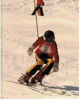 小学5年生のときの滑り。大きなブーツで…